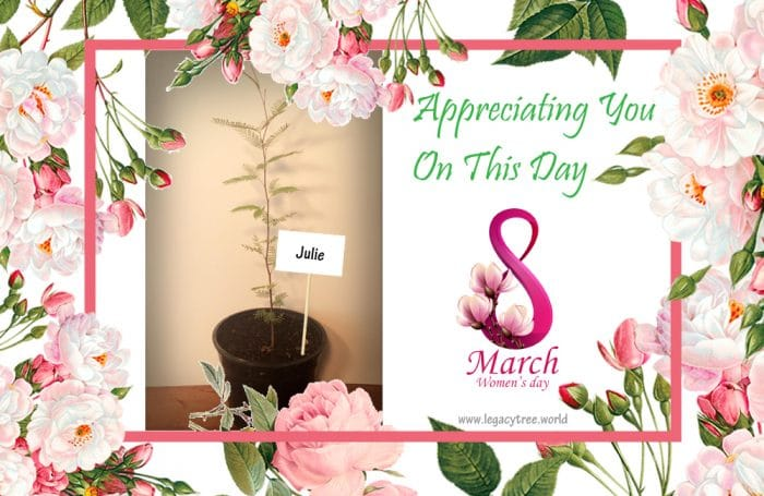 celebrating women's greatness with a women's day tree
