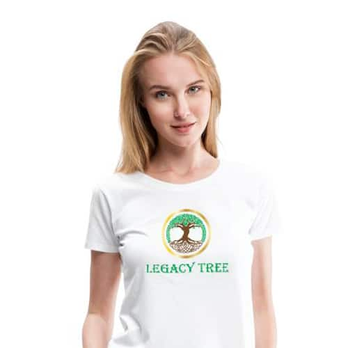 SPREAD THE WORD<br /> ABOUT LEGACY TREE, EVEN SILENTLY - BY WEARING OUR T-SHIRTS!